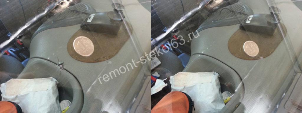 Ремонт скола на лобовом стекле
