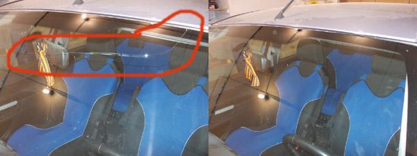 Ремонт трещины на лобовом стекле